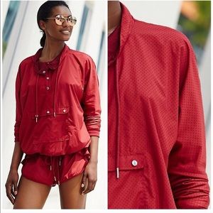 Free People Movement Pullover Red Flounce Jacket